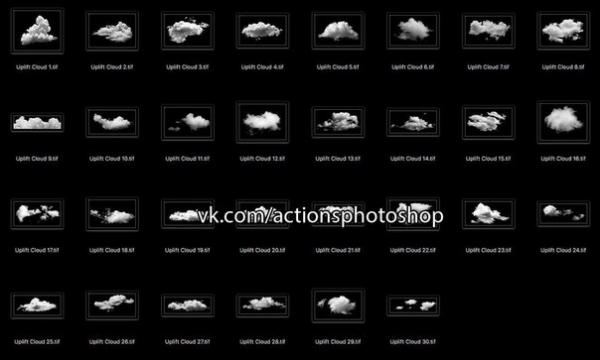 Preset Cloud Brushes Photoshop for lightroom