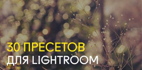 Preset 30 Presets LR for lightroom